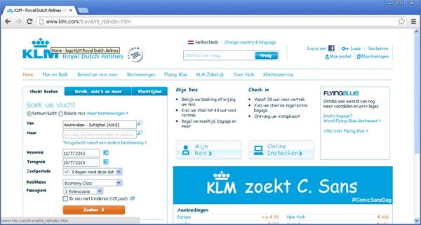 KLM Zoekt C. Sans