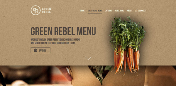 Green Rebel Menu