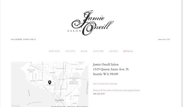 Jamie Oneill Salon Details