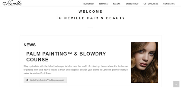 Neville Hair and Beauty Welcome