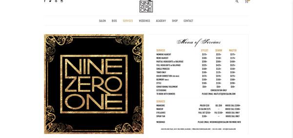 Nine Zero One Salon Services
